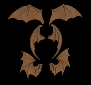 bat wings 3D model