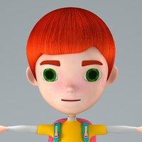3D boy cartoon