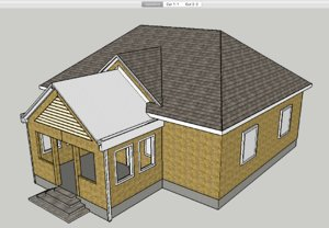 story house walls 3D