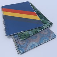 3D spiral bound notebooks model