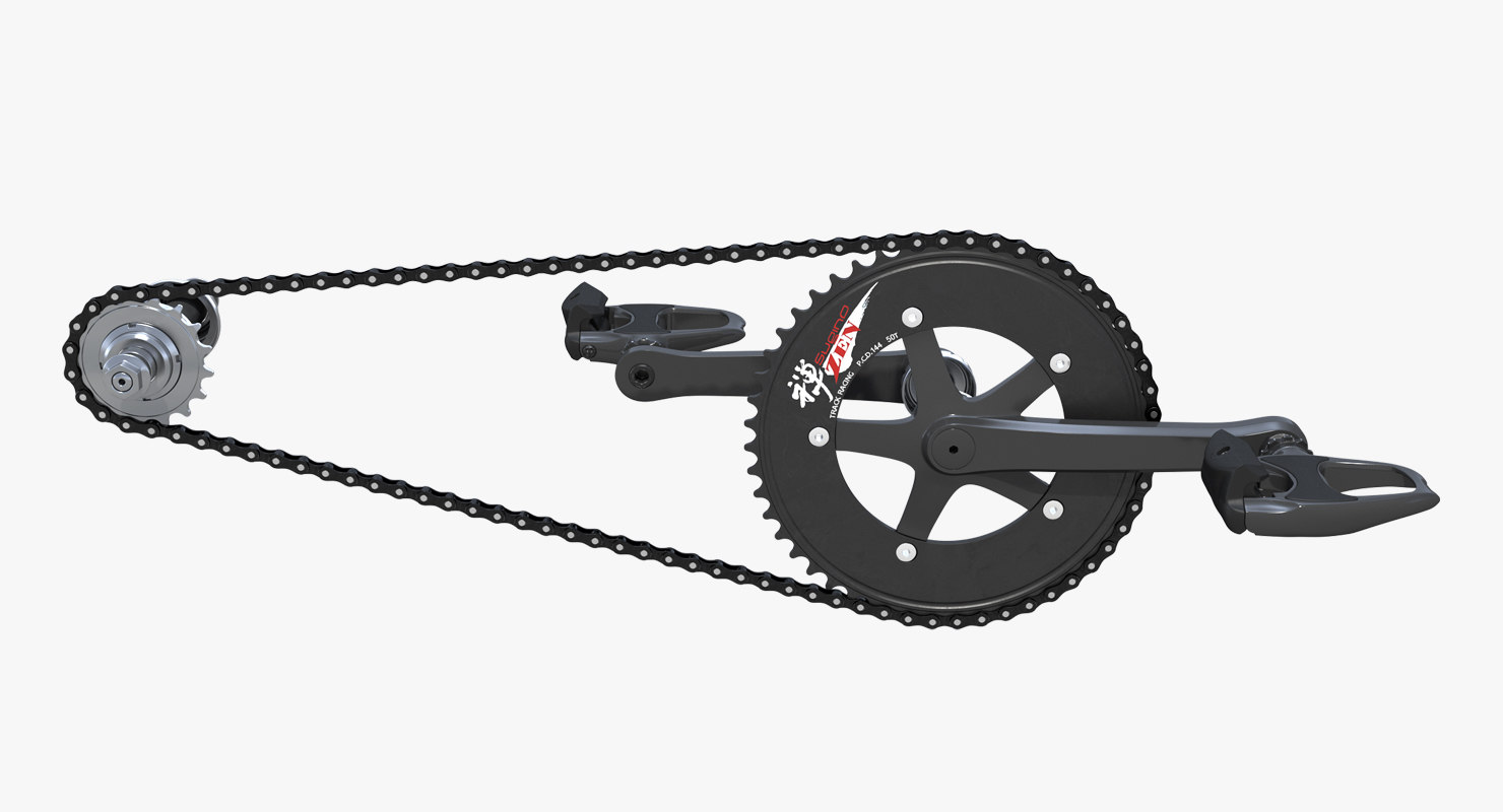 3D bicycle chain pedals