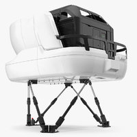 3D airplane simulator machine generic model