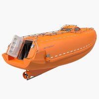 lifeboat rigged 3D model