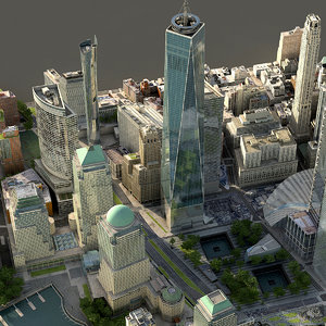 manhattan lower buildings model