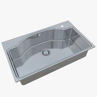 3D model sink oulin ol-0210 ol