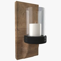 3D candle wall sconce model