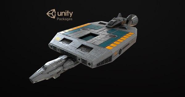 3D model spaceship 19x vr