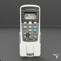 remote control mitsubishi air conditioning 3D model