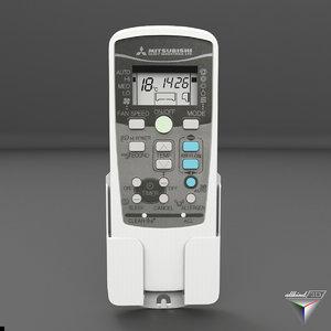 remote control mitsubishi air conditioning 3D model