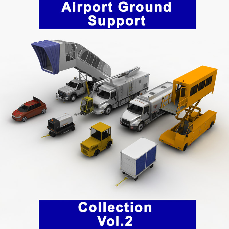 3D airport ground support vol 2 model