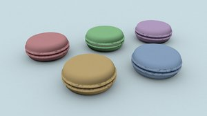 3D macaroons french model