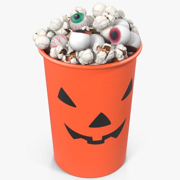 halloween popcorn cup 3 3D
