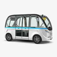 Electric Driverless Bus Generic