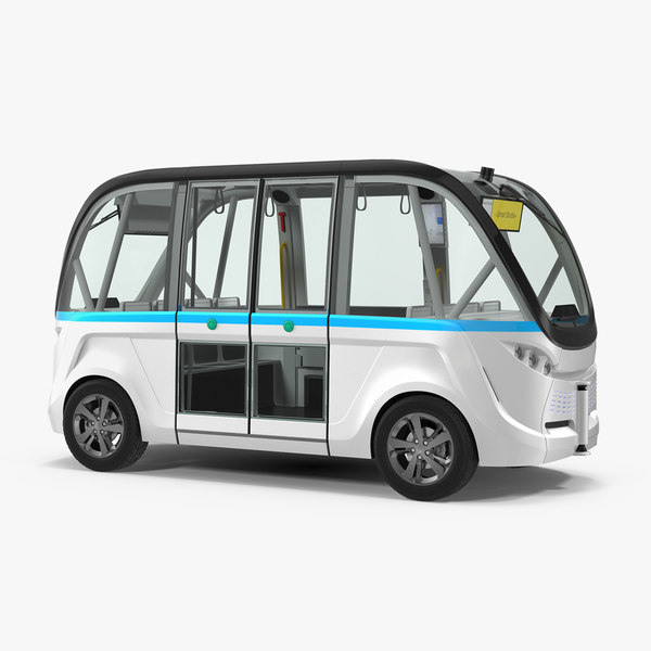 electric driverless bus generic 3D model
