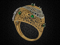 turkish model ring with stones