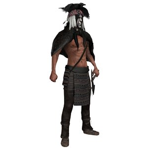 rigged native american 3D model