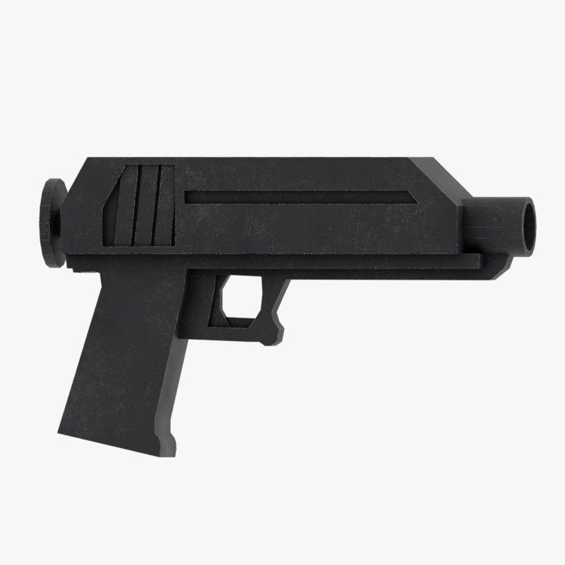 sci fi gun model