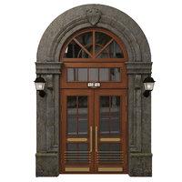Entrance classic door 08