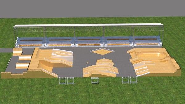 3D skate park