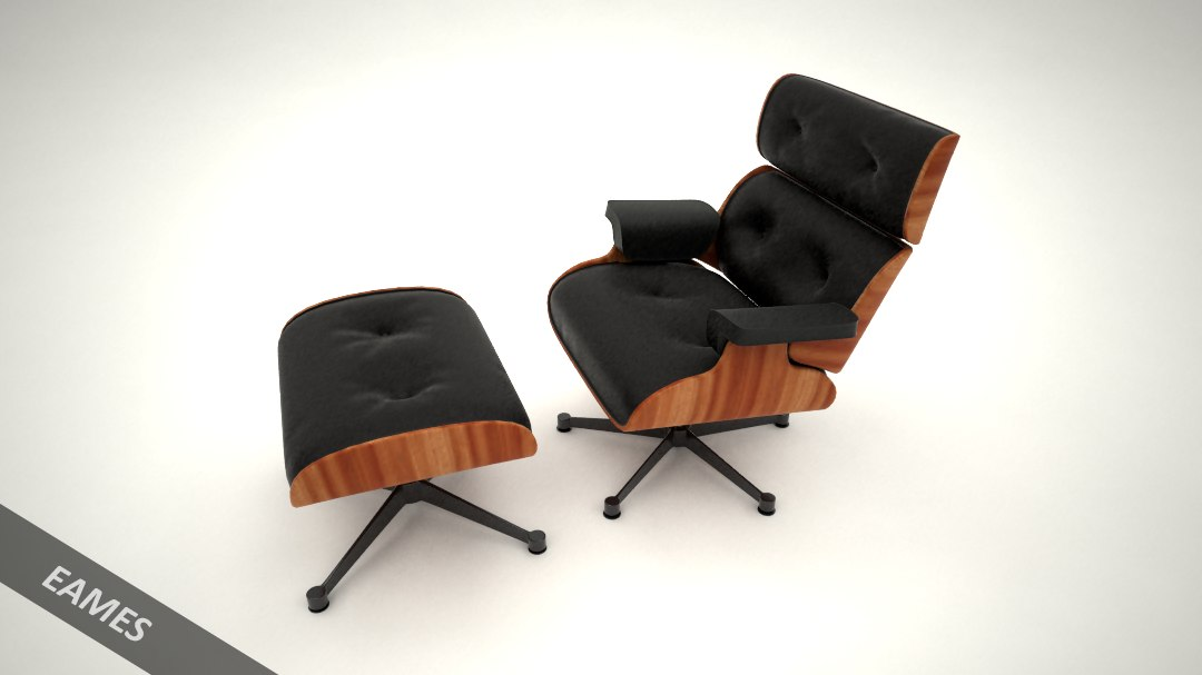 3D model chair eames