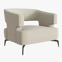 Holly Hunt Minerva lounge Chair grey