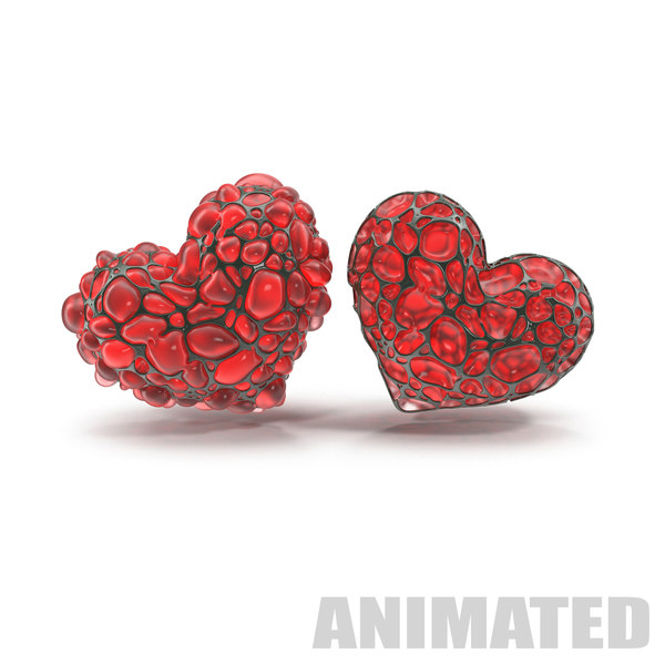 abstract heart animation 3D model