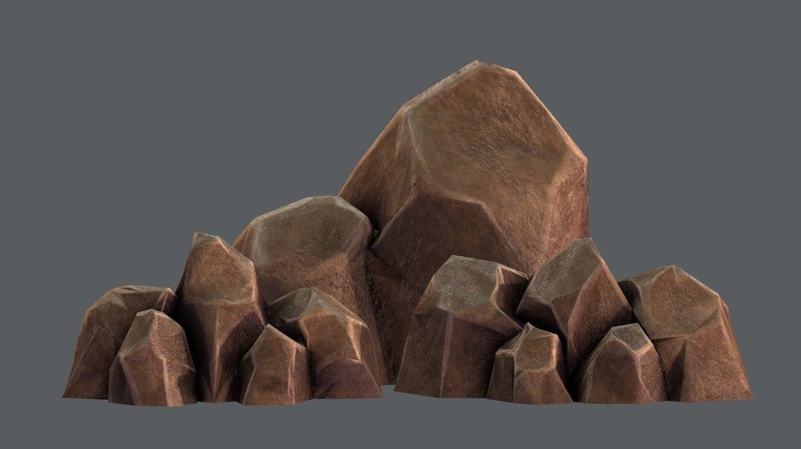 3D rocks v01