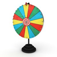 wheel spinning 3D model