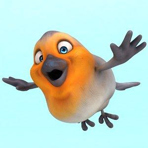 3D fun red robin !