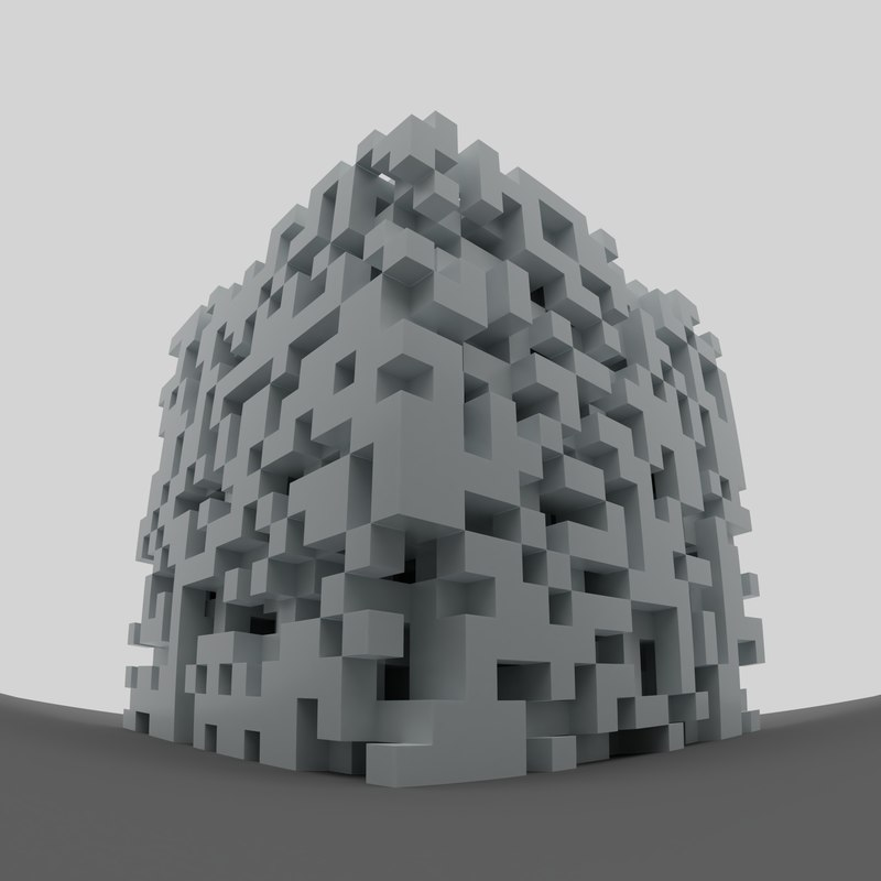 3D cube abstract model