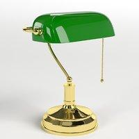 3D model banker s lamp