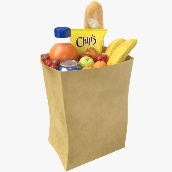 grocery bag 3D