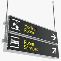 airport signs medical room 3D model