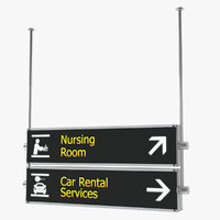 3D airport signs nursing room model