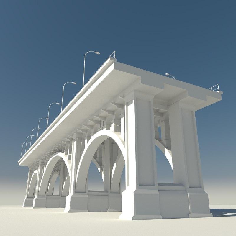 3D model resolution railway bridge