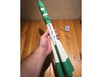 3D korolevs soviet r-7 rocket model
