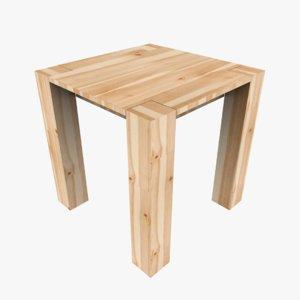 3D modern wooden table model