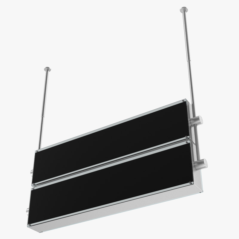 blank airport sign 3D model