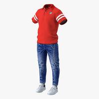 casual clothes 3D model