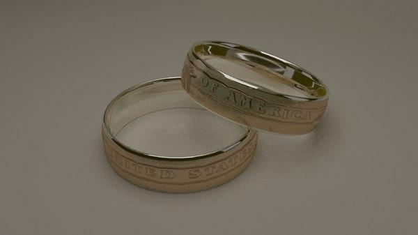 3D dolar ring model