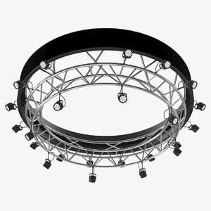 3D truss stage lighting scene