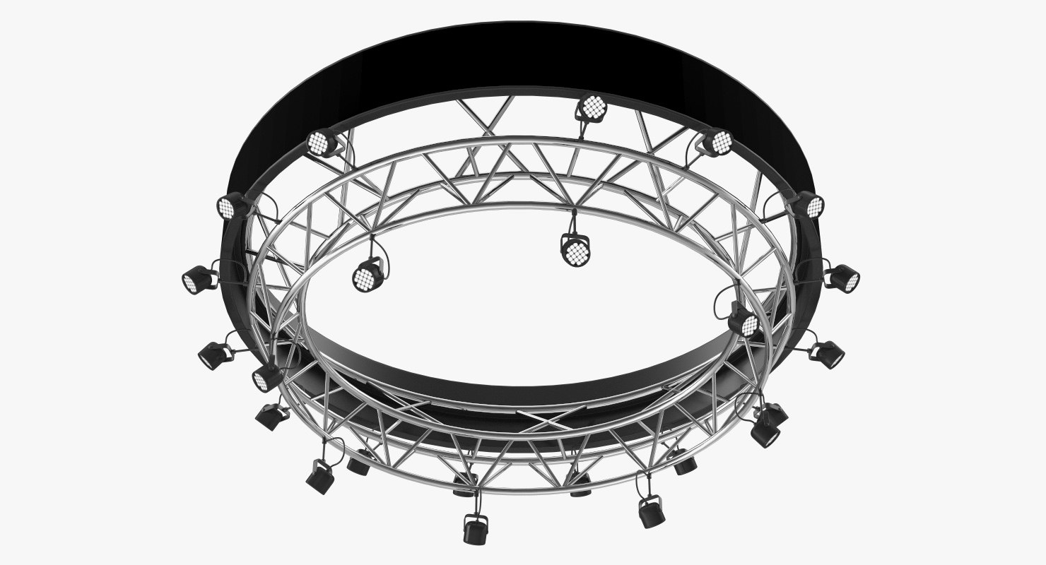 3D truss stage lighting scene