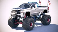 chevrolet silverado monster 3D