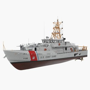 coast guard cutter jacob 3D model