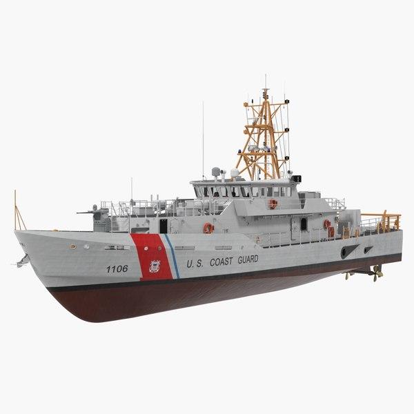 coast guard cutter jacob 3D model
