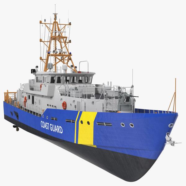 coast guard patrol boat 3D model
