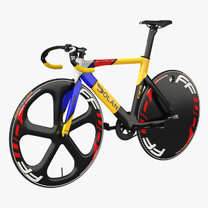 3D model colored track bike dolan