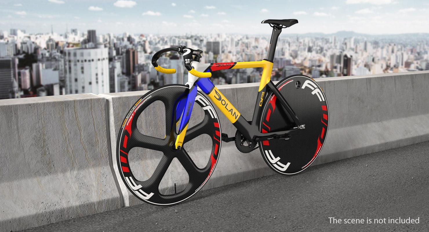 3D model colored track bike dolan