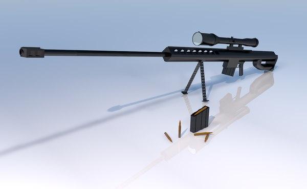 3D sniper francotirador barrett