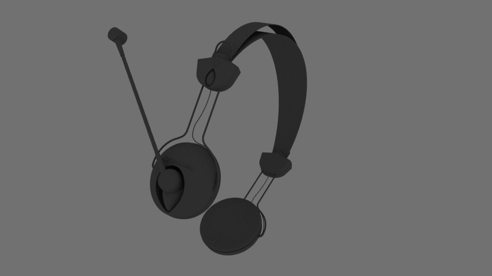 3D headphones mic model